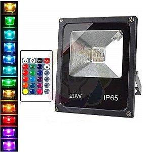 Refletor LED 20w Colorido RGB