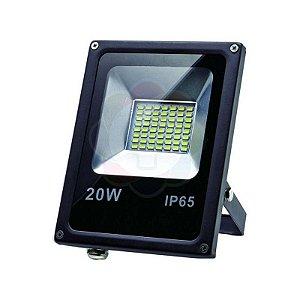 Refletor LED 20w SMD Branco Frio