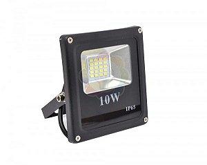 Refletor LED 10w SMD Branco Quente