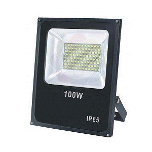 Refletor LED 100w SMD Branco Quente