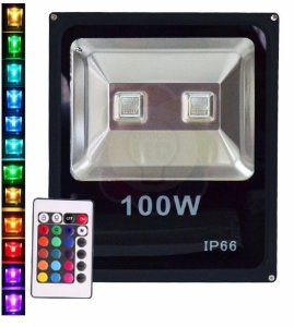 Refletor LED 100w RGB Colorido