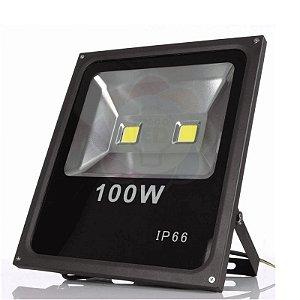 Refletor LED 100w COB Branco Quente