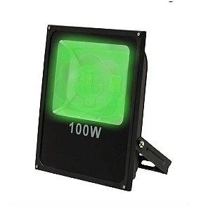 Refletor LED 100w COB Verde