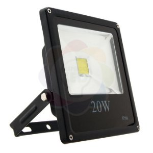 Refletor LED 20w COB Branco Frio
