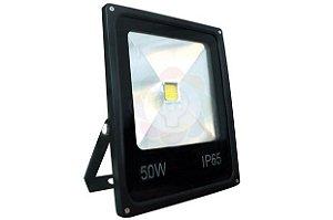 Refletor LED 50w COB Branco Quente
