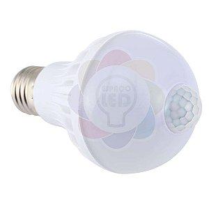 Lâmpada Bulbo com Sensor de Presença e Fotocélula 9w Branca Fria