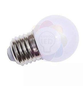 Lâmpada Bulbo LED Bolinha 1w E27 Branca Fria