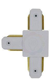 Conexão/emenda T para Trilho Eletrificado Branco