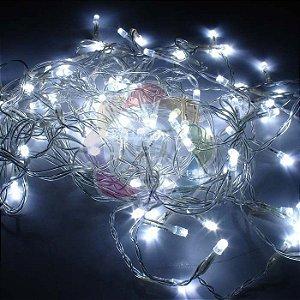 Luzinha de Natal Pisca Pisca 9,7m com 100 Leds Branco Frio 110v