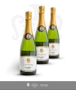 Maria Izabel Espumante Brut 2015, Blanc de Blancs, 750ml, caixa com 3 garrafas