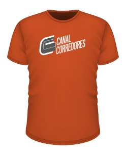 Camiseta Masculina Treino Laranja Canal Corredores