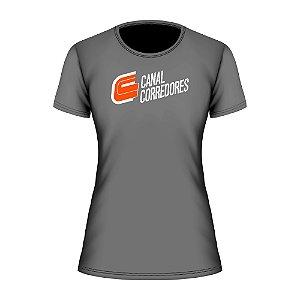 Camiseta Baby Look Treino Cinza Canal Corredores