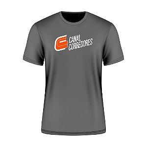 Camiseta Masculina Treino Cinza Canal Corredores