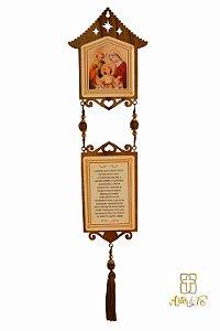 Adorno de Natal Sagrada Família