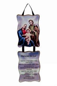 Adorno Sagrada Família com Benção