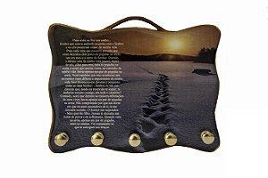 Porta Chaves Pegadas na Areia