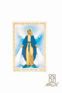 Santinho com oração Nossa Senhora das Graças - Pacote c/100