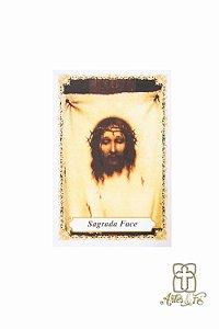 Santinho com oração Sagrada Face - Pacote c/100