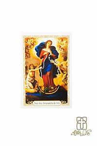 Santinho com oração Nossa Senhora Desatadora de Nós - Pacote c/100