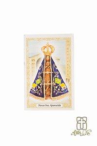 Santinho com oração Nossa Senhora Aparecida - Pacote c/100