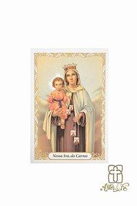 Santinho de oração de Nossa Senhora do Carmo - Pacote c/100