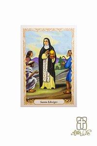 Santinho de oração de Santa Edwiges - Pacote c/100