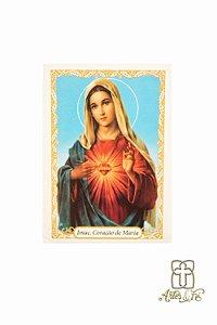Santinho com oração Imaculado Coração de Maria - Pacote c/100