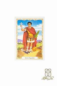 Santinho com oração Santo Expedito - Pacote c/100