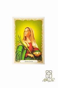 Santinho com oração Santa Luzia - Pacote c/100
