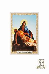 Santinho com oração Nossa Senhora da Piedade - Pacote c/100