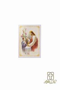 Folheto de Primeira Eucaristia Menino - Pacote c/100