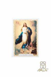 Santinho com oração Nossa Senhora Imaculada Conceição - Pacote c/100