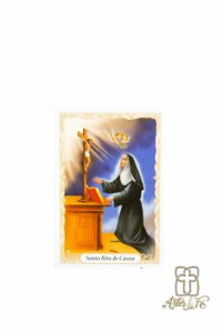 Santinho de oração Santa Rita c/100