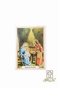 Santinho com oração Sagrada Família - Pacote c/100