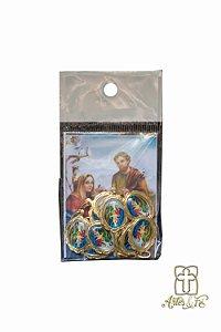 Medalha Sagrada Família com oração 12uni