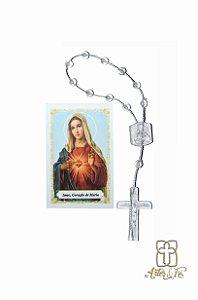 Dezena com oração mini -  Sagrado Coração de Maria