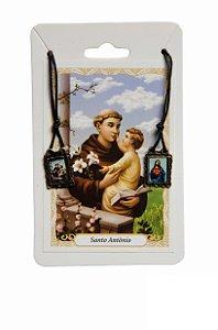 Escapulário Sagrado Coração de Jesus e Santo Antonio