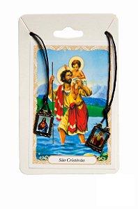 Escapulário Sagrado Coração de Jesus e São Cristovão