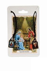 Escapulário Sagrado Coração de Jesus e Sagrada Família