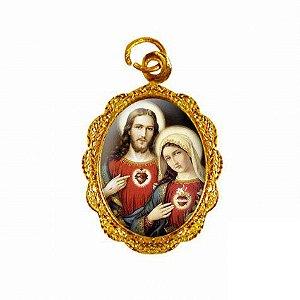 Medalha Sagrado Coração de Jesus e Maria