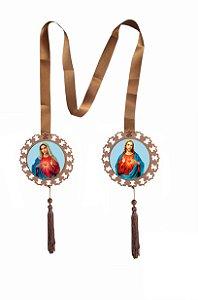 Escapulário de Porta Sagrado Coração de Jesus e Maria