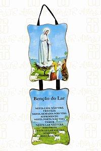 Adorno Nossa Senhora de Fátima com Benção