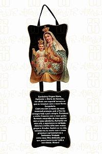 Adorno Nossa Senhora do Carmo com Oração
