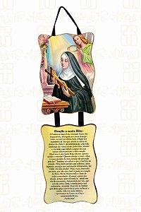 Adorno Santa Rita com Oração
