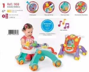 Andador 3 Em 1 Andador/mesa/painel Didático Infantil Calesita