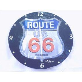 Relógio de Parede Route US 66 Analógico