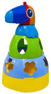 Brinquedo Didático Para Bebês com Formas Geométricas Encaixe Mercotoys