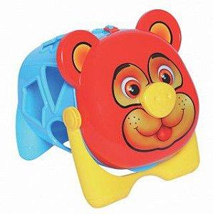 Brinquedo Educativo Urso Tomy  com Formas Geométricas MercoToys