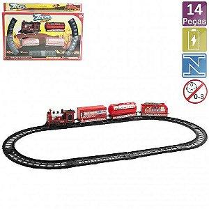 Trem Set Coleção Bombeiros Ark Toys