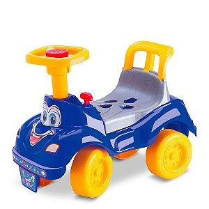 Carrinho Totokinha Azul Motoquinha com Buzinha e Blocos Encaixar